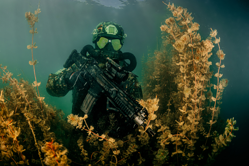 Underwater Photo Shooting with 72nd Special Forces Brigade of the Serbian Army – Belgrade / Serbia